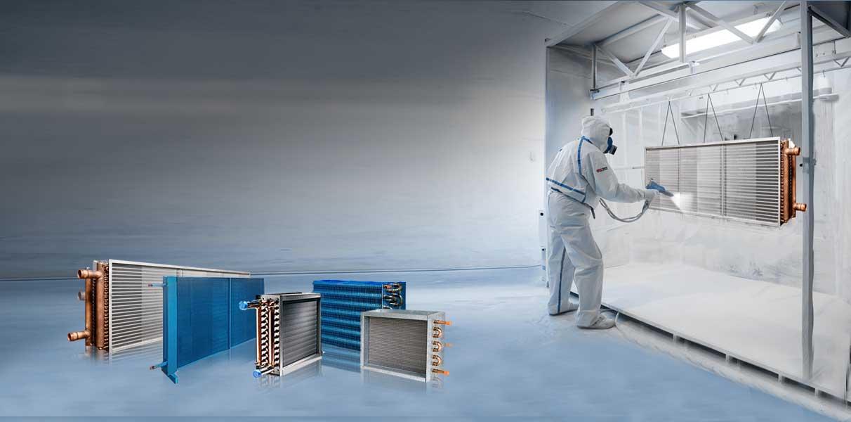 HVAC coatings